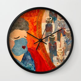 Power of Nursing Through Despair Wall Clock