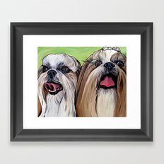 Shih Tzu Dog Art Framed Art Print