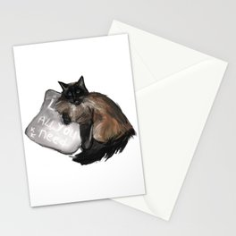 Neva masquerade cat drawing Stationery Cards
