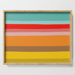 Color Stripes Serving Tray