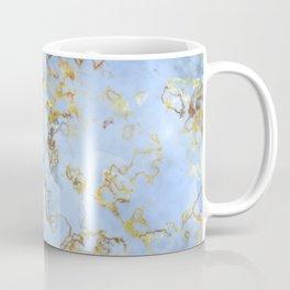 Blue And Gold Marble Coffee Mug