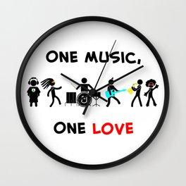 One Music, One Love Wall Clock
