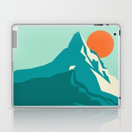 As the sun rises over the peak Laptop & iPad Skin