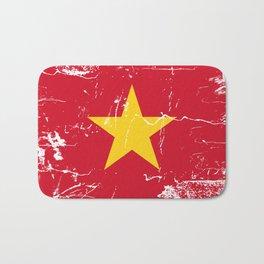 Vietnam Flag with Grunge effect Bath Mat