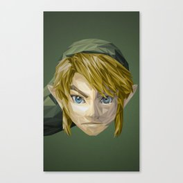 Triangles Video Games Heroes - Link Canvas Print