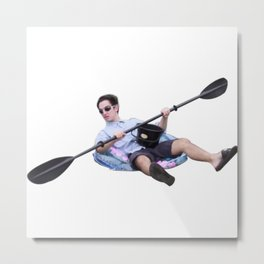 Filthy Frank kayaking sticker Metal Print