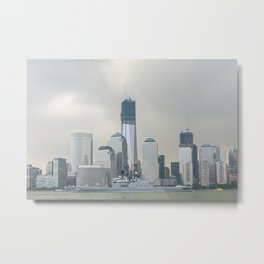 New York City and Japanese Navy Ship Shirane 2012 Metal Print