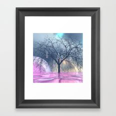 the tree, that weeps Framed Art Print