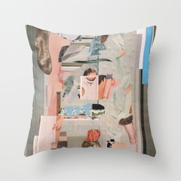 cold and warm air Throw Pillow