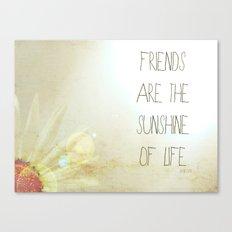 Sunshine & Friendship Canvas Print