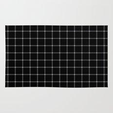 Mesmerising black and white plaid pattern Rug