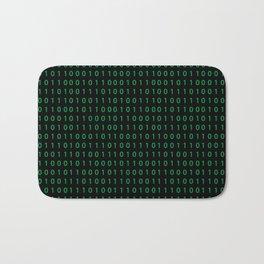 Pattern with binary code on dark background Bath Mat