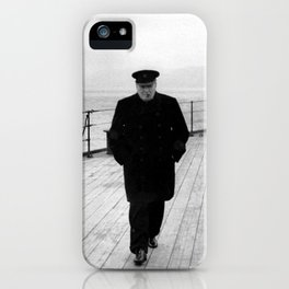 Winston Churchill At Sea iPhone Case