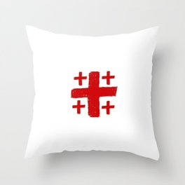 Jerusalem Cross 5 Throw Pillow
