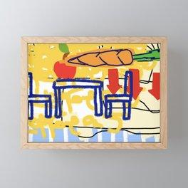 Carrot Table for two Framed Mini Art Print
