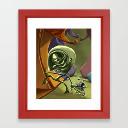 Back home Framed Art Print