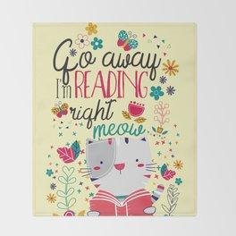Reading Right Meow Throw Blanket