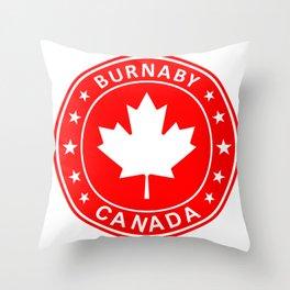 Burnaby, Canada Throw Pillow