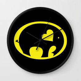 Bat Elephant Wall Clock