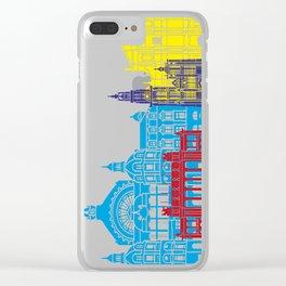 Antwerp skyline pop Clear iPhone Case