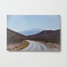 Silver Desert Road. Death Valley, United States of America. American Landscapes. Fine Art Travel Print. Photo Wall Art. Metal Print