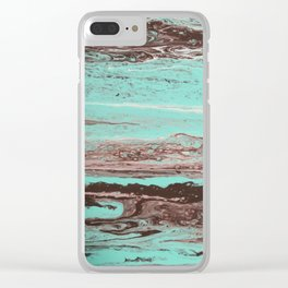 Tidal Shifts of Dawn and Dusk Clear iPhone Case