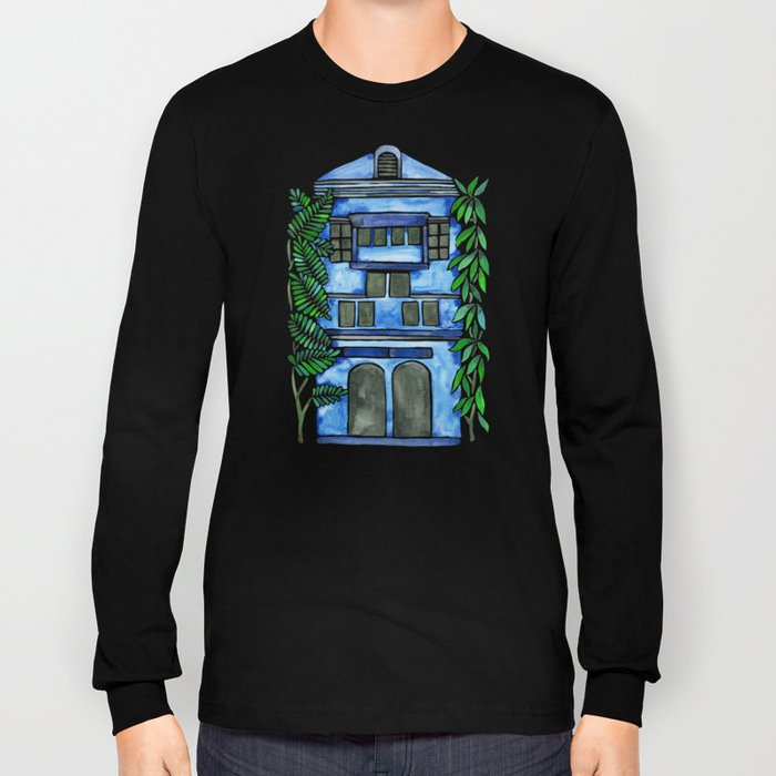 Tropical Blue House Long Sleeve T-shirt