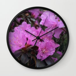 Electric Pink Wall Clock