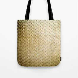 Gold Painted Metal Stylish Design Tote Bag