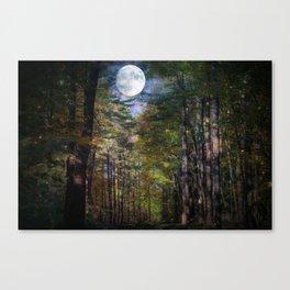 Magical Moonlit Forest Canvas Print