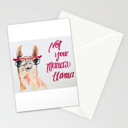 Not Your Mama's Llama Stationery Cards
