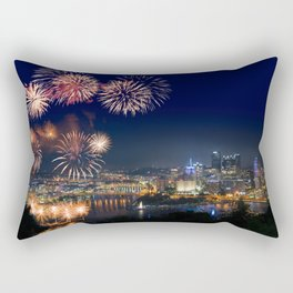 Fireworks over Pittsburgh on 4th July Rectangular Pillow