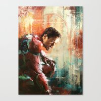 iron man Canvas Prints featuring The man of Iron by Wisesnail