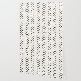 white arrow mudcloth chevron Wallpaper