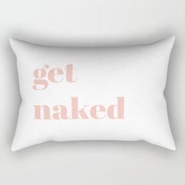 get naked V Rectangular Pillow