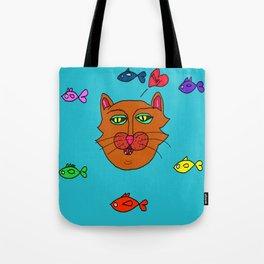 FishyCat Tote Bag