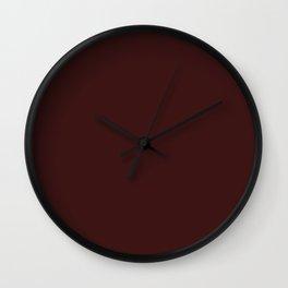 Dark Sienna Brown Wall Clock