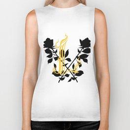 Locust Tattoo roses and L monogram by Sarah de Azevedo Biker Tank