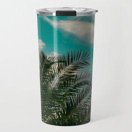 Palms on Turquoise - II Travel Mug