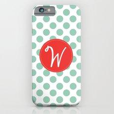 Monogram Initial W Polka Dot Slim Case iPhone 6s