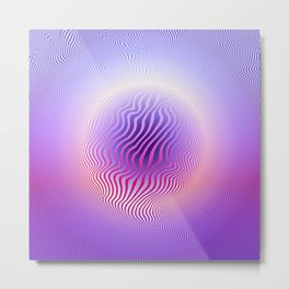 Ultraviolet Pulse Metal Print