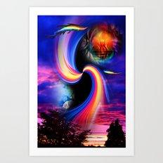 Heavenly apparition 2 Art Print