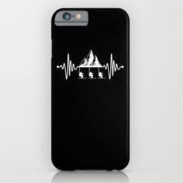 Ski Lift Skiing Mountains Alps Heartbeat Pulse iPhone Case