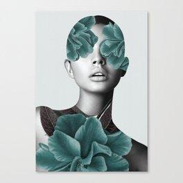 Floral Portrait (woman) Canvas Print