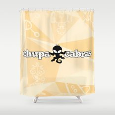 CHUPACABRAS - Light Yellow Edition Shower Curtain