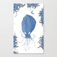 squid Canvas Prints featuring squid.  by Elvis Vazquez