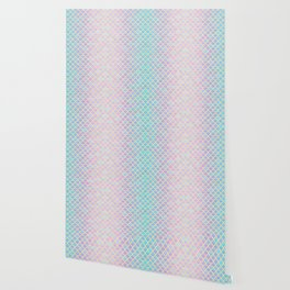 COTTON CANDY MERMAID SCALES Wallpaper