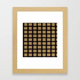 Golden Cross Framed Art Print