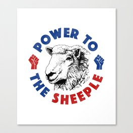 Power To The Sheeple Canvas Print