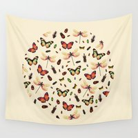 insects Wall Tapestries featuring Insecta by Victor Vercesi